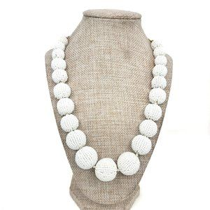 J. Crew Beaded Graduated Ball Statement Necklace